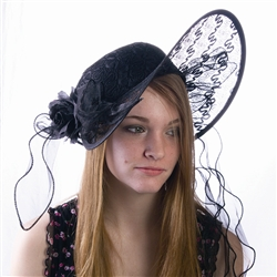 Kentucky Derby Black Classic Hat | Kentucky Derby Apparel