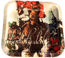 "9"" Kentucky Derby Artwork Plates 