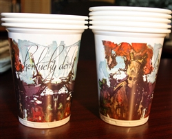 Kentucky Derby Artwork Beverage Cups | Kentucky Derby Tableware