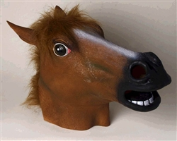 Brown Latex Horse Mask | Kentucky Derby Party Apparel