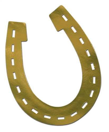 Horseshoe Silhouette Cutout Kentucky Derby Party Decorations
