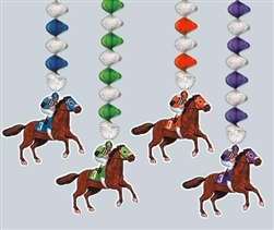 Horse & Jockey Danglers | Kentucky Derby Hanging Decorations