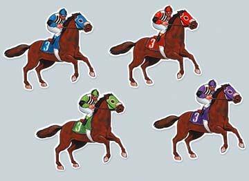 Horse Jockey Cutouts Kentucky Derby Party Decorations