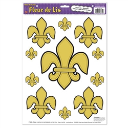 Fleur De Lis Peel 'N Place | Kentucky Derby Supplies | Mardi Gras Decorations