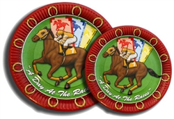 "Day at the Races 9"" Plates 