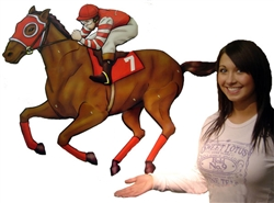 "40"" Horse and Jockey Cutout 