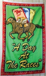 """A Day At The Races"" Rayon Flag"