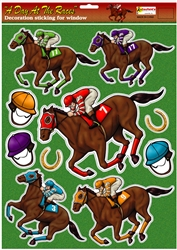 Day at the Races Window Decor | Kentucky Derby Party Supplies