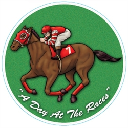 Day at the Races Horse and Jockey Coaster | Kentucky Derby Tableware