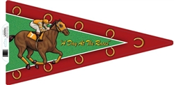 """A Day At The Races"" Single Pennant 2 Sided 