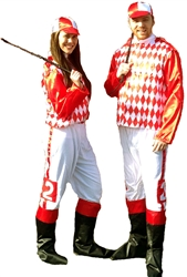 Adult Extra Large Silk Jockey Costume | Kentucky Derby Apparel