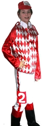 Jockey Silks Child Costume - Red & White | Kentucky Derby Party Apparel