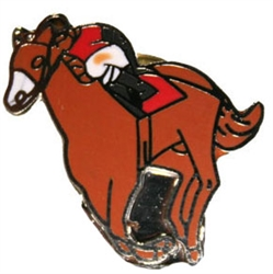 "3/4"" Horse and Jockey Lapel Pin 