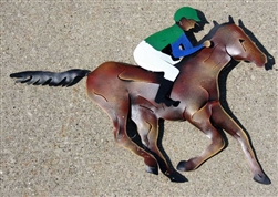 Racehorse and Jockey Sculpture | Kentucky Derby Party Supplies