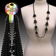Black Top Hat Beads