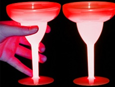 Red Glow Margarita Cup