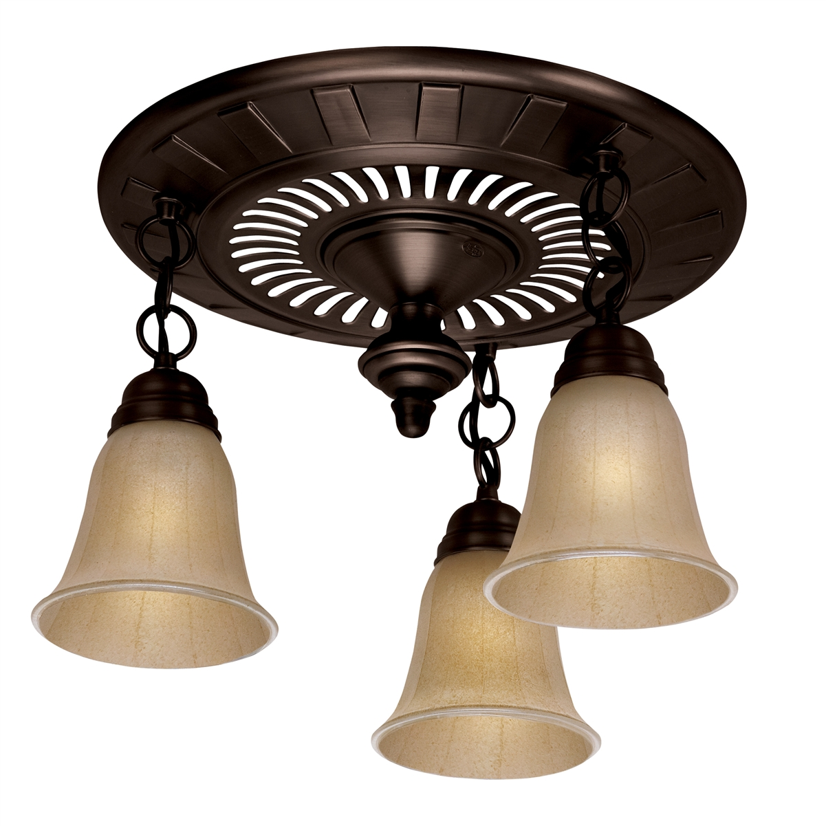 Garden District 3-Light Bathroom Fan - Oil Rubbed Bronze (80707)