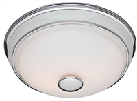 Victorian Bathroom Fan and Light - Traditional Chrome & Porcelain (81021)