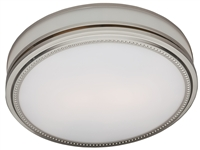 Riazzi Bathroom Fan with Light and Nightlight - Brushed Nickel Finish (83001)