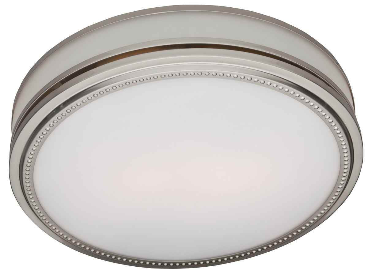Riazzi Bathroom Fan With Light And Nightlight Brushed Nickel Finish 83001