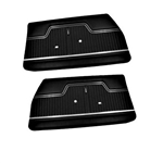 1970-72 Chevelle Pre-Assembled Front Door Panels, Pair