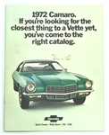 1972 Camaro Dealer Brochure
