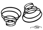 Window Crank Handle Springs Pair