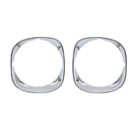 1970-73 Firebird Chrome Headlight Bezel-Pair