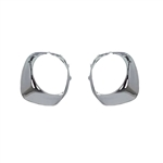 1974-76 Firebird Chrome Headlight Bezel - Pair