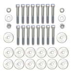 1964-67 Chevelle Convertible Frame Mounting Hardware, 28-Pcs