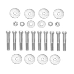 1968-72 Chevelle Frame Mounting Hardware, 24-Pcs