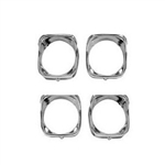1968 Chevelle Chrome Headlight Bezels. 4-Pc