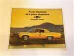 1969 Pacesetter Values Vehicle Line Up Brochure - Original GM