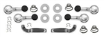 1968-72 GM Door Hand & Crank Handle Kit - Black