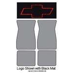 1974-81 Bowtie Logo Carpet Floor Mats 4-pc