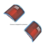 1973-86 GM Truck Tail Light Lenses w/Chrome Trim RH, LH Pair