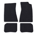 1968-72 Chevelle Carpet Floor Mats, Black, 4-pc