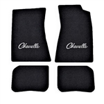 1968-72 Chevelle Carpet Floor Mats, Logo, 4-pc