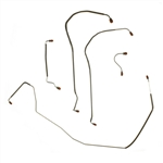 1968 Chevelle Front Brake Lines, Power Disc, 5-Pcs