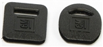 1967-81 Camaro Square & Round Key Covers - Black