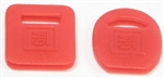 1967-81 Camaro Square & Round Key Covers - Red