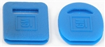 1967-81 Camaro Square & Round Key Covers - Blue