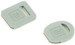 1967-81 Camaro Square & Round Key Covers - Grey