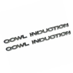 1968-72 Camaro/Chevelle Cowl Induction Emblem, Set