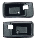 1975-76 Camaro Black Door Handle Escutcheon Cups - Pair