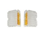 1972 Chevelle Clear Park Light Lens Assembly, Pair