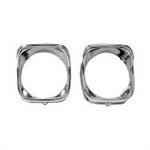 1968 Chevelle Chrome Headlight Bezel Pair, RH
