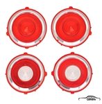 1970-71 Camaro Standard Tail Lenses Kit w/o Chrome Ring