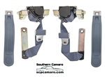 1974-81 Camaro Front Seat Belts - Black Pair