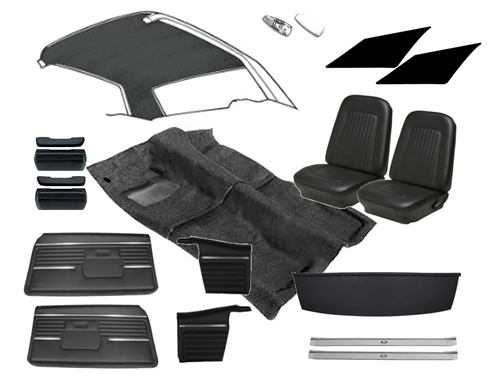 1968 camaro coupe std interior kit w buckets for 69 camaro complete interior kit